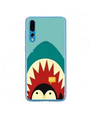 Coque Huawei P20 Pro Pingouin Requin - Jay Fleck