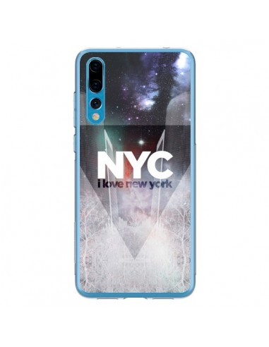 Coque Huawei P20 Pro I Love New York City Bleu - Javier Martinez
