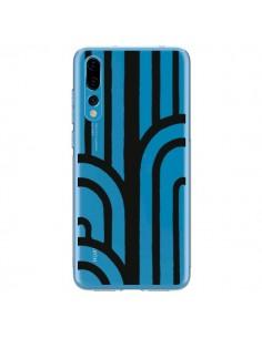 Coque Huawei P20 Pro Geometric Noir Transparente - Dricia Do