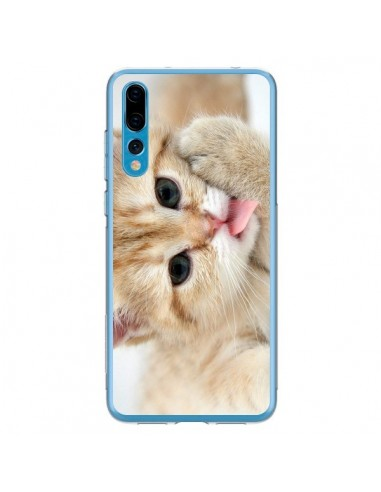 Coque Huawei P20 Pro Chat Cat Tongue - Laetitia