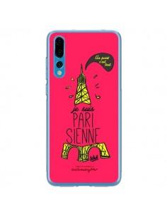 Coque Huawei P20 Pro Je suis Parisienne La Tour Eiffel Rose - Leellouebrigitte