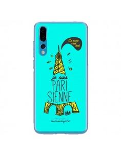 Coque Huawei P20 Pro Je suis Parisienne La Tour Eiffel Bleu - Leellouebrigitte