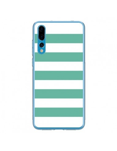 Coque Huawei P20 Pro Bandes Mint Vert - Mary Nesrala