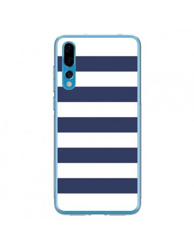 Coque Huawei P20 Pro Bandes Marinières Bleu Blanc Gaultier - Mary Nesrala