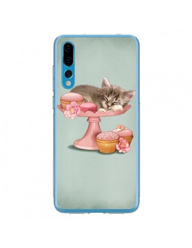 Coque Huawei P20 Pro Chaton Chat Kitten Cookies Cupcake - Maryline Cazenave
