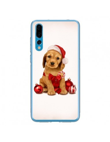 Coque Huawei P20 Pro Chien Dog Pere Noel Christmas Boules Sapin - Maryline Cazenave