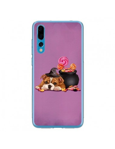 Coque Huawei P20 Pro Chien Dog Halloween Sorciere Chaudron Bonbon - Maryline Cazenave