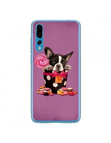 Coque Huawei P20 Pro Chien Dog Boite Noeud Papillon Pois Bonbon - Maryline Cazenave