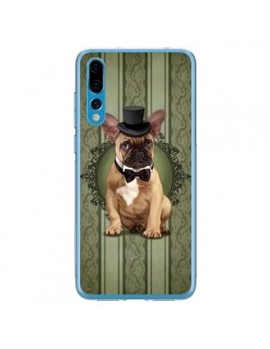 Coque Huawei P20 Pro Chien Dog Bulldog Noeud Papillon Chapeau - Maryline Cazenave