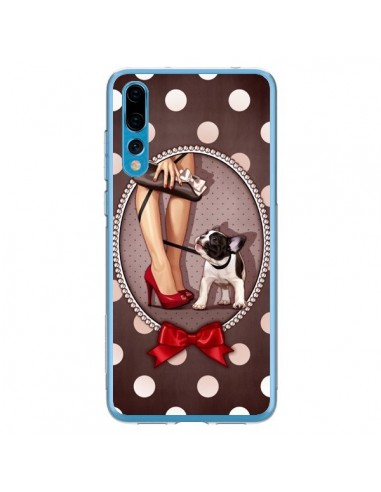 Coque Huawei P20 Pro Lady Jambes Chien Dog Pois Noeud papillon - Maryline Cazenave