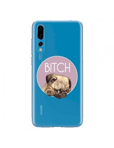 Coque Huawei P20 Pro Bulldog Bitch Transparente - Maryline Cazenave