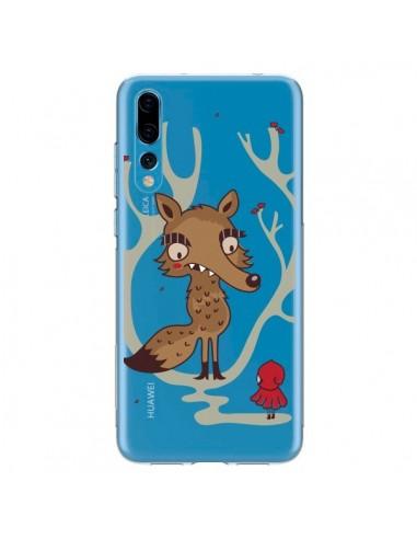 Coque Huawei P20 Pro Le Petit Chaperon Rouge Loup Hello Big Wolf Transparente - Maria Jose Da Luz