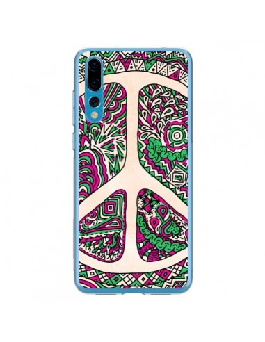 Coque Huawei P20 Pro Peace and Love Azteque Vainilla - Maximilian San