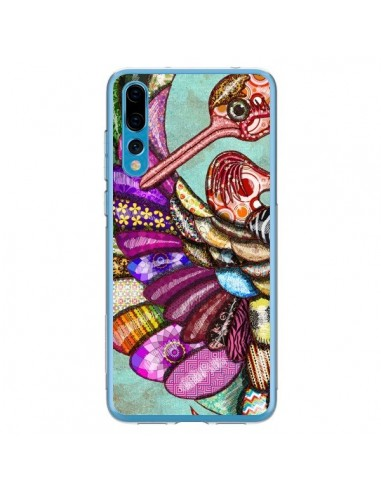 Coque Huawei P20 Pro Paon Multicolore Eco Bird - Maximilian San