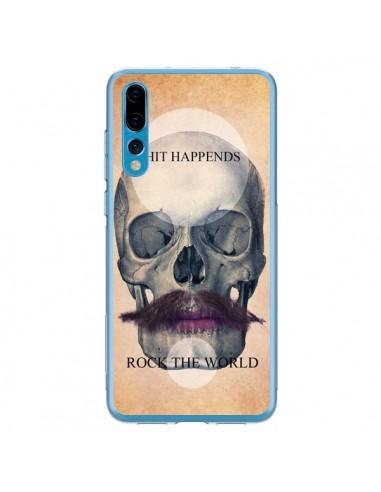 Coque Huawei P20 Pro Rock Skull Tête de Mort - Maximilian San
