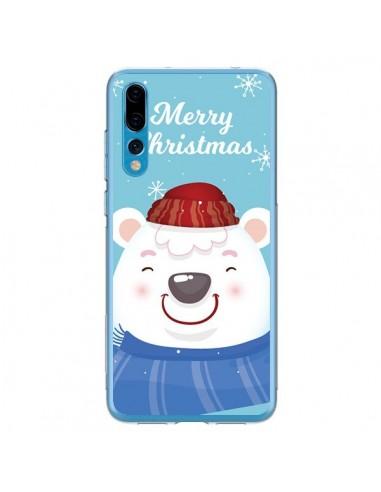 Coque Huawei P20 Pro Ours Blanc de Noël Merry Christmas - Nico