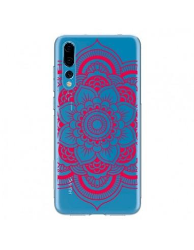 Coque Huawei P20 Pro Mandala Rose Fushia Azteque Transparente - Nico