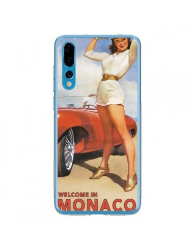 Coque Huawei P20 Pro Welcome to Monaco Vintage Pin Up - Nico