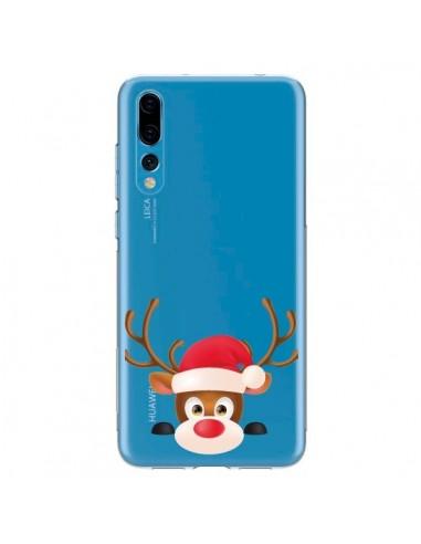 Coque Huawei P20 Pro Renne de Noël transparente - Nico
