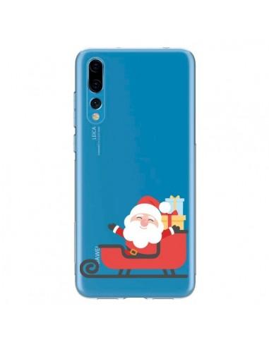 Coque Huawei P20 Pro Père Noël et son Traineau transparente - Nico
