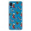 Coque Huawei P20 Pro Chaussette Sucre d'Orge Houx de Noël transparente - Nico
