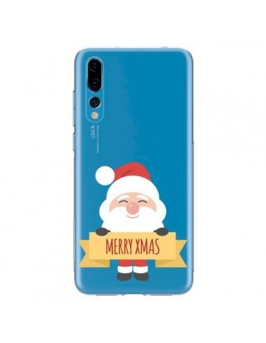 Coque Huawei P20 Pro Père Noël Merry Christmas transparente - Nico