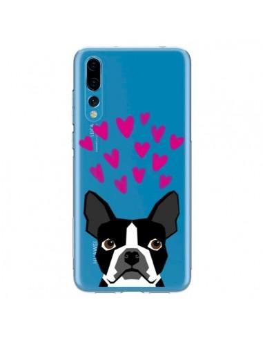Coque Huawei P20 Pro Boston Terrier Coeurs Chien Transparente - Pet Friendly