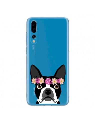 Coque Huawei P20 Pro Boston Terrier Fleurs Chien Transparente - Pet Friendly