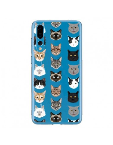Coque Huawei P20 Pro Chats Transparente - Pet Friendly