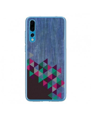Coque Huawei P20 Pro Wood Bois Azteque Triangles Archiwoo - Pura Vida