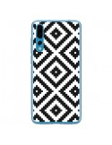 Coque Huawei P20 Pro Diamond Chevron Black and White - Pura Vida