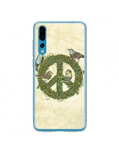 Coque Huawei P20 Pro Peace And Love Nature Oiseaux - Rachel Caldwell