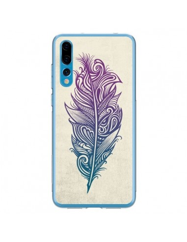 Coque Huawei P20 Pro Feather Plume...