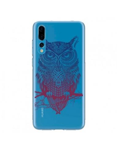Coque Huawei P20 Pro Hibou Chouette Owl Transparente - Rachel Caldwell