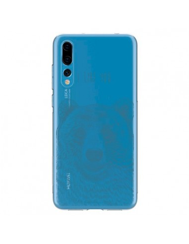 Coque Huawei P20 Pro I Love You Bear Ours Ourson Transparente - Rachel Caldwell