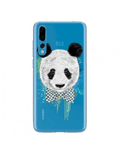 Coque Huawei P20 Pro Panda Noeud Papillon Transparente - Rachel Caldwell