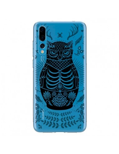 Coque Huawei P20 Pro Owl Chouette Hibou Squelette Transparente - Rachel Caldwell