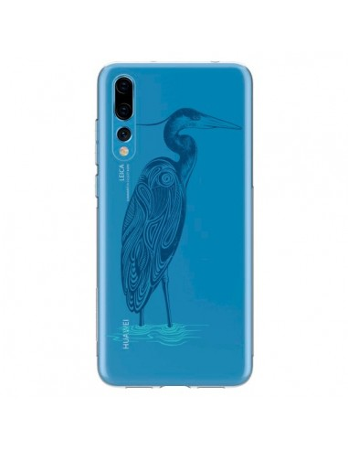 Coque Huawei P20 Pro Heron Blue Oiseau Transparente - Rachel Caldwell