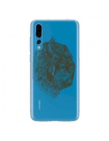 Coque Huawei P20 Pro Buffalo Bison Transparente - Rachel Caldwell