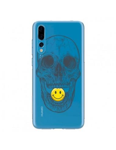 Coque Huawei P20 Pro Tête de Mort Smiley Transparente - Rachel Caldwell