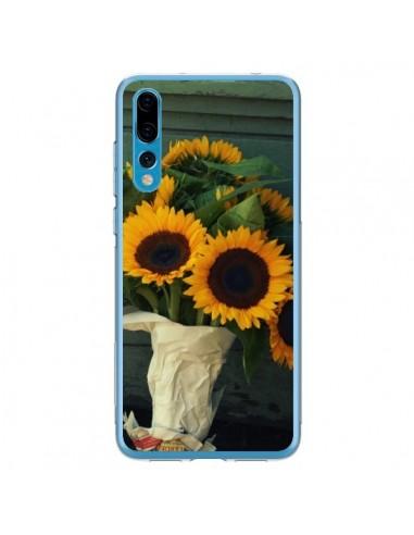 Coque Huawei P20 Pro Tournesol Bouquet Fleur - R Delean