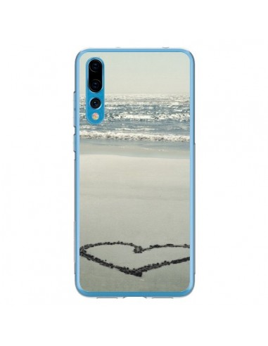 Coque Huawei P20 Pro Coeoeur Plage Beach Mer Sea Love Sable Sand - R Delean