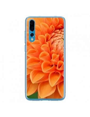 Coque Huawei P20 Pro Fleurs oranges flower - R Delean