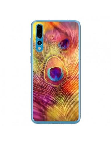 Coque Huawei P20 Pro Plume de Paon Multicolore - Sylvia Cook