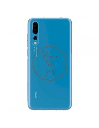 Coque Huawei P20 Pro Peace and Joy, Paix et Joie Transparente - Sylvia Cook