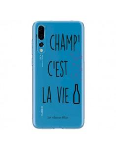 Coque Huawei P20 Pro Le Champ, c'est la Vie Transparente - Les Vilaines Filles