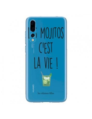 Coque Huawei P20 Pro Les Mojitos, c'est la vie Transparente - Les Vilaines Filles