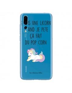 Coque Huawei P20 Pro Je suis une licorne, quand je pète ça fait du pop corn Transparente - Les Vilaines Filles