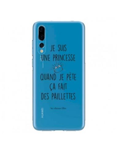 Coque Huawei P20 Pro Je suis une princesse quand je pète ça fait des paillettes Transparente - Les Vilaines Filles