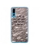 Coque Huawei P20 Pro Life is short Foret - Tara Yarte
